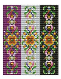 Bead Loom Vintage Motif 2 Multi-Color Bracelet par MyTreasureIsland