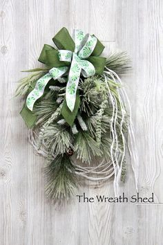 Ships Free Winter Wreath Christmas Wreath Winter Wreaths