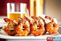 Barbecue Grilled Shrimp Recipe Main Dishes with shrimp, olive oil, bbq sauce Best Grilled Shrimp Recipe, Frozen Shrimp Recipes, Spicy Grilled Shrimp, Seafood Recipes, Garlic Shrimp, Pork Rib Recipes, Top Recipes, Meal Recipes, Healthy Grilling