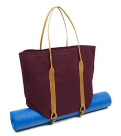 Canvas Tote - Burgundy   District West