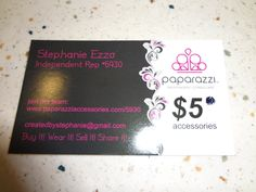 Paparazzi Jewelry Business Card Template | ... and earring set wrapped in bubble wrap and Steph 's business card