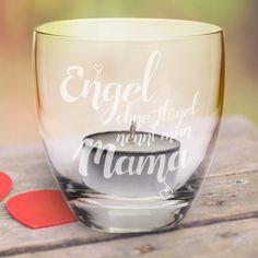 """Teelicht """"Engel ohne Flügel nennt man Mama"""" - eine wundervolle Geschenkidee für Mutti, Geschenk zum Muttertag oder als Weihnachtsgeschenk."""
