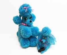 Kitsch Poodle Pair Bathroom Cozies Extraordinaire by MyPalPeppy