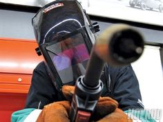 In this tech article HOT ROD provides a MIG welding guide to show how to use your first welder like a pro, including everything from how to set the welder to running a bead and everything else - Hot Rod Magazine Welding Works, Welding Classes, Welding Tips, Mig Welding, Welding Process, Welding Table, Metal Welding, Welding Art, Welding Ideas