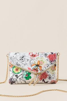 Ainsley Floral Crossbody Clutch