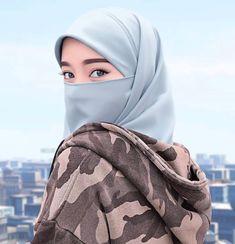 Hijab Dp, Hijab Niqab, Muslim Hijab, Hijabi Girl, Girl Hijab, Muslim Girls, Muslim Women, Niqab Fashion, Hijab Cartoon