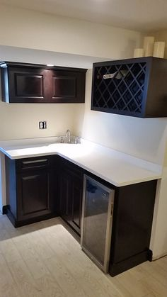 "KCK Reviews & Testimonials | ""We checked out 3 different RTA sites for wet bar cabinets for our basement. Kitchen Cabinet Kings had the best prices and the most variety out of the ones we looked at. We were looking for dark cabinets and went with their Gramercy Midnight, which is their darkest color."" ~ by LUKE LAROCCO 