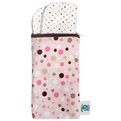 Planet Wise Wipe Pouch - Pink Dots (FINAL SALE)