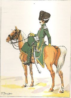 French; 5th Chasseurs a Cheval, Officer, Petite Tenue, 1808
