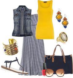 LOLO Moda: Cool Maxi Skirts 2013-- I like the idea of the vest instead of a jacket!
