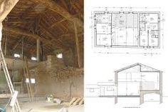transformation grange en habitation architecte restaurer grange pinterest grange plans de. Black Bedroom Furniture Sets. Home Design Ideas
