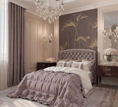 60 modern and simple bedroom design ideas 64 ~ Home Design Ideas Luxury Bedroom Design, Luxury Rooms, Master Bedroom Design, Luxurious Bedrooms, Home Bedroom, Bedroom Decor, Interior Design, Bedroom Lighting, Bedroom Furniture