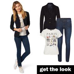 Paris-Shirt, Denim und Blazer von zero #zerofashion #getthelook #paris #outfit