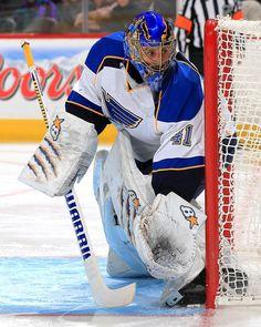 Jaroslav Halak Action Photo Print x Hockey Helmet, Ice Hockey Teams, Hockey Goalie, Field Hockey, Hockey Players, Football Helmets, Blues Nhl, Goalie Mask, Nhl Games