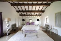 ceiling beams design ideas for bedroom interior