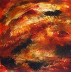 Art Home Decor Large Abstract Painting Gold  by GirlBurkeStudios, $495.00