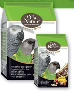 Deli Nature 5* Menu African Parrots Food is an extremely varied and balanced seed mixture, containing more than 40 ingredients. The mixture meets the nutritional demands of African parrots, including African Grey parrots and Senegals.  The new five star (5*) menu range combines a rich variety of top quality sun-ripened seeds and grains, together with high quality proteins, vegetal material, herbs, legumes, and fruits from the natural living environment of the particular bird.