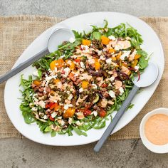 Balsamic Roasted Mediterranean Salad with Eggplant Dip