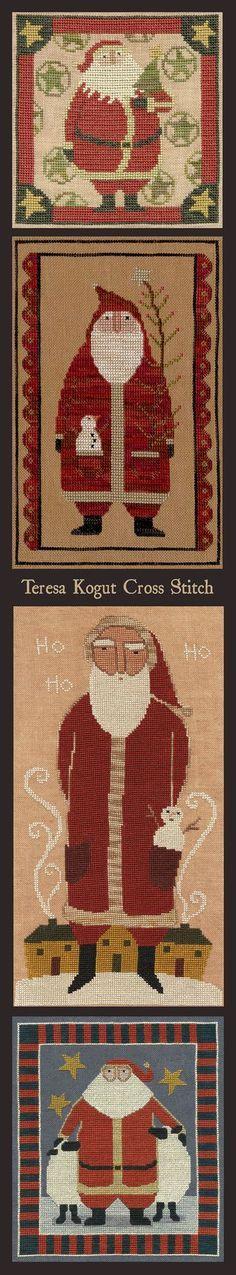 Do you love Santa? Do you love Cross Stitch? Charts by Teresa Kogut #xs #needlework