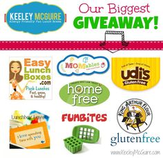 Huge giveaway for packing healthy lunches for kids, check it out! Ends March 12, 2013