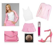 """""""Regina George- """"On Wednesday, We Wear Pink"""""""" by gracerose03 ❤ liked on Polyvore featuring George, Helmut Lang, Xandres xline, Shoe Republic LA, Marc by Marc Jacobs, Urban Decay and LORAC"""