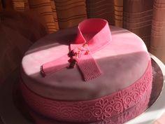 Lovely Pink Ribbon cake at Dalia's
