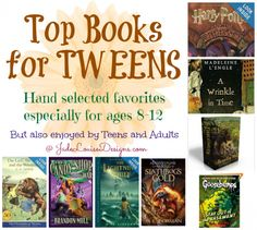 Top books for Tweens ages 8-12 to encourage a love of reading #booklist #booksfortweens #reading #books