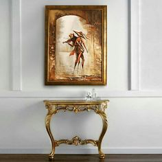 Painting - Melody of the Wind - original gold wall decor