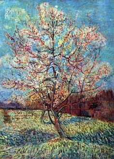 Vincent van Gogh Peach Tree in Bloom painting is shipped worldwide,including stretched canvas and framed art.This Vincent van Gogh Peach Tree in Bloom painting is available at custom size. Impressionism, Classic Art, Landscape Paintings, Artist Van Gogh, Watercolor Artists, Tree Painting, Painting, Art, Pictures
