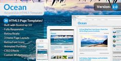 Review Ocean - Responsive HTML5 Templatetoday price drop and special promotion. Get The best buy