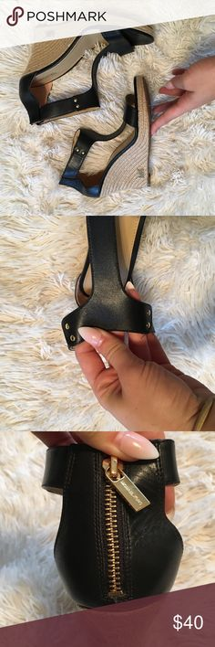 Michael Kors Wedges Michael Kors Leather Wedges, NWOT , size 7 Michael Kors Shoes Wedges