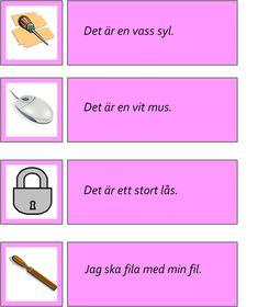 montessorimaterial - Swedish Language, Former, Flashcard, Speech Therapy, Montessori, School Ideas, Barn, Learning, Infants