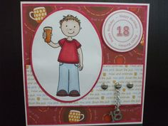 18th birthday card - male
