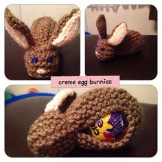 easter knitting patterns for creme eggs Small Knitting Projects, Beginner Knitting Patterns, Christmas Knitting Patterns, Easy Knitting Patterns, Yarn Projects, Free Knitting, Crochet Patterns, Simple Knitting, Easter Bunny Template