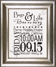 #Wedding Announcement #Typography #Print