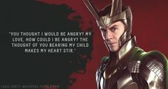 "Submission: ""You thought I would be angry? My love, how could I be angry? The thought of you bearing my child makes my heart stir."""