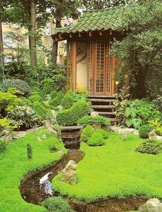 Green Tile Roof: The Japanese Courtyard: Grace And Beauty, Conveyed With  Great Simplicity