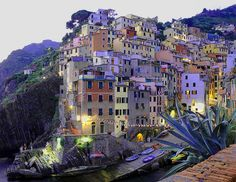 Italy...don't think I could walk up those streets.....very steep