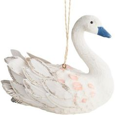 This beautiful swan ornament will stand out on your tree.