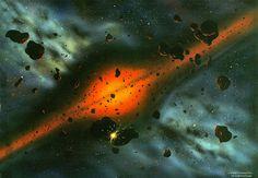 BizleyArt - Gallery - Category: Hadean Prehistoric Timeline, Alien Worlds, Astronomy, Universe, Celestial, Abstract, Space, Wallpaper, Gallery
