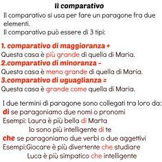 Il comparativo