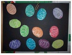 Crayon Resist Egg Collage ... a favorite project for Easter.