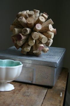 diy cork centerpiece add a touch of rustic charm to your home by creating a arts crafts rustic charm