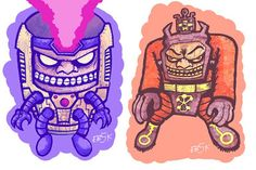 Making some prints of two of my favorite Kirby villains: MODOK and Arnim Zola. These guys are for my local comic shop: Universe of Super-Heroes in Riverside! I'll have some new stuff at the store in July. More to come!