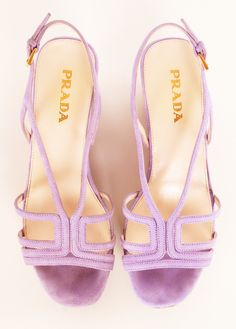 Lavender PRADA HEELS: Love this Wedge Shoe!