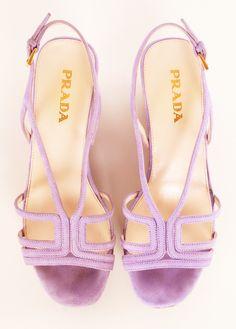 Lavender PRADA HEELS: Love this Wedge Shoe!
