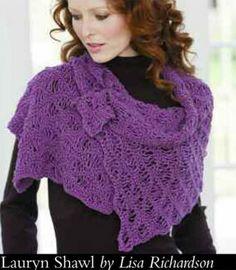 seafoam stitch shawl pattern