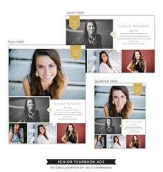 Senior Yearbook Ads | Mag style - Birdesign