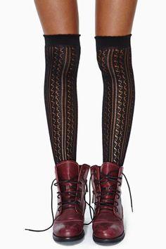 Delilah Knee High Socks