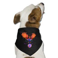 Phoenix Mythology, Dog Best Friend, Let It Shine, Dog Bandana, Your Dog, Dogs, Prints, Cotton, Design